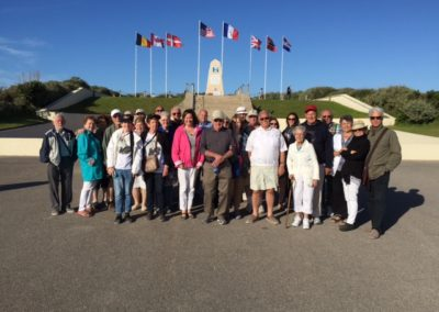 Our Group by the Memorial