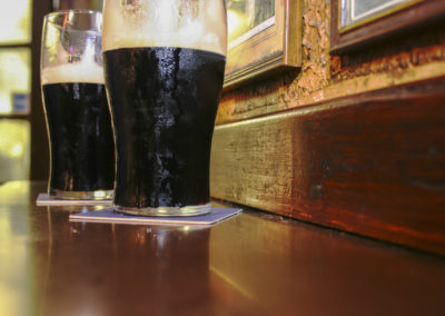 Stout Beer Served at a Traditional Irish Pub