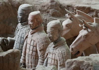 Terra Cotta Warriors and their Horses Stand Ready