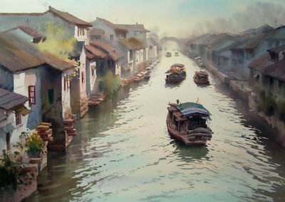 "Suzhou with its Canals on the Yangtze Delta is the ""Venice of the East"""