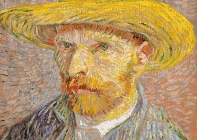 Self-Portrait with a Straw Hat (Van Gogh)