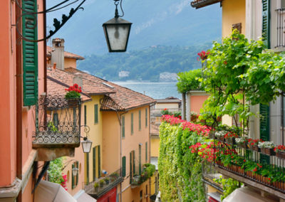 A Picturesque Side Street  in Bellagio Overlooking Lake Como