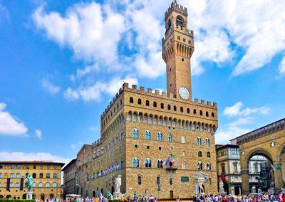 Piazza della Signoria with Palazzo Vecchio in Florence, Tuscany