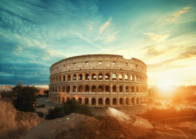 Roman Colosseum at Sunrise
